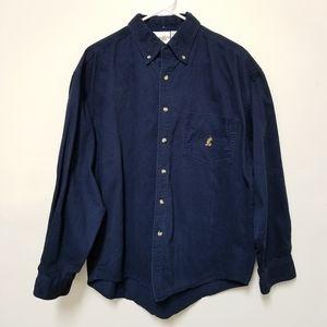 Walt Disney World Button Down Long Sleeve Shirt L